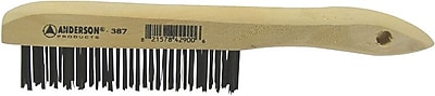 ANDERSON® Shoe Wood Handle CS Bristle Hand Scratch Brush, 1 1/8 in (L) Trim