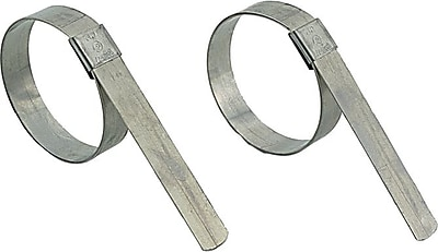 BAND-IT® Galvanized Carbon Steel Center Punch Band And Buckle Clamp, 3/8 in (W), 13/16 in (ID)