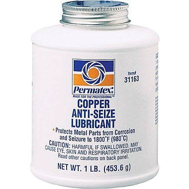 Permatex® Copper Metallic Paste Anti-Seize Lubricant, 16 oz Brush Top Can