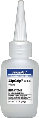Permatex Zip Grip GPE3 Wicking Cyanoacrylate Adhesive 0.49 oz.