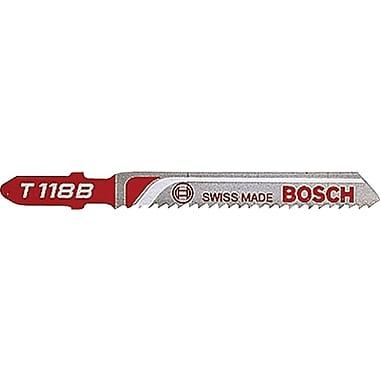 BOSCH 0.3 in (W) x 0.04 in (T) HSS Jigsaw Blade, 17-24 Progressive TPI, 3 5/8 in (OAL)
