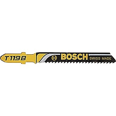 BOSCH 0.28 in (W) x 0.06 in (T) Straight T Tang HCS Jigsaw Blade, 4 in (OAL)