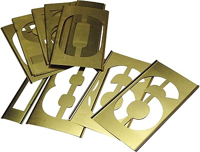 C.H. Hanson® 15 pcs Brass Single Number Stencil Set, 2 in
