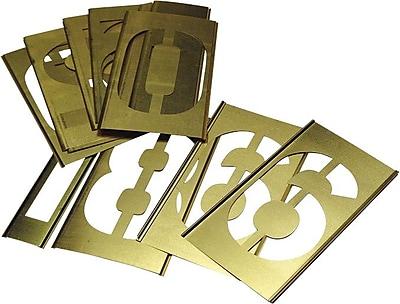 C.H. Hanson® 15 pcs Brass Single Number Stencil Set, 3 in