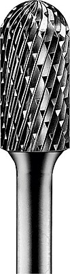 PFERD 1 3/4 in (L) x 1/4 in Round Shank Style C Tungsten Carbide Bur Bit Set, 3/8 in (Diameter)