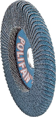 POLIFAN® 5 in (OD) 5/8 in (T) 29 Large ZA Flap Disc, 40 (Medium), 5/8-11 Arbor