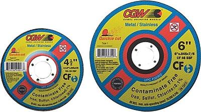 Quickie Cut™ 4 1/2 in (OD) x 0.045 in (T) 27 AO Cut-Off Wheel, 60 (Medium), 7/8 in Arbor