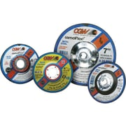CGW® 4 1/2 in (OD) x 1/8 in (T) 27 Depressed Center AO Cut-Off Wheel,24 (Coarse),5/8-11 inches Arbor