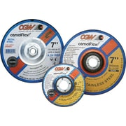 CGW® 7 in (OD) x 1/4 in (T) 27 Depressed Center Flat AO Cut-Off Wheel, 24 (Coarse), 5/8-11 Arbor