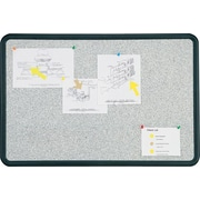 "Quartet® Contour® Granite Bulletin Board, Black Frame, 24""W x 18""H"