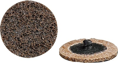 CGW® 25000 rpm Brown Quick Change Surface Conditioning Roll On Disc, 2 in (OD), Coarse Grit