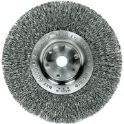 Trulock™ 8 in (OD) 3/4 in (W) Face Narrow-Face Crimped Wire Wheel Brush, 0.014 in Wire, Steel