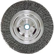 "Weiler® Bench Grinder Wheels, Medium Face Wheel, Wire Material Steel, 6"" Diameter"