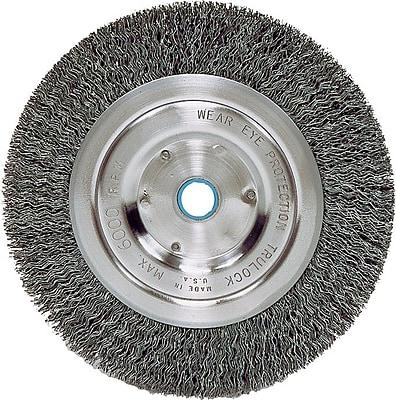 Weiler® 6 in (OD) 5/8 in (W) Face Medium Face Crimped Grinder Wheel Brush, 0.014 in Coarse, Steel