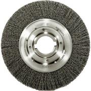 Trulock™ 6 in (OD) 1 in (W) Face Medium Face Crimped Wire Wheel Brush, 0.014 in Coarse, Steel