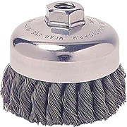 Weiler® General-Duty Knot Wire Cup Brushes, 0.02-2 3/4, Stainless Steel