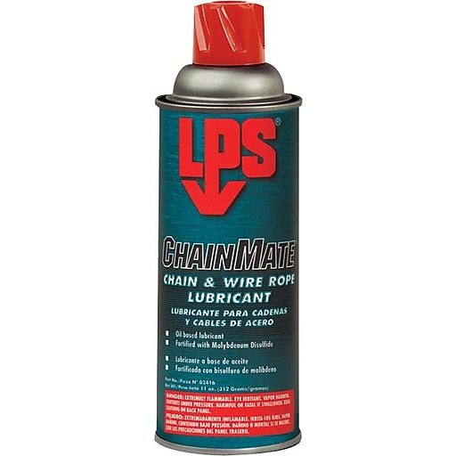 LPS® ChainMate® Liquid Chain and Wire Rope Lubricant, 16 oz Aerosol ...