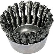 ADVANCE BRUSH 0.02 in (Dia) x 7/8 in (L) CS Wire Mini 18 Knot Cup Brush, 5/8-11, 2 3/4 in (Dia)
