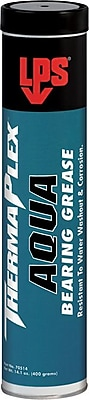 LPS® ThermaPlex® 470 deg F Flash Point Creamy Paste Aqua Bearing Grease, 14.1 oz Cartridge, 10/Pack