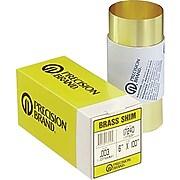 "Precision Brand® Brass Shim Stock Rolls, 0.002"" X 6"" X 100"""