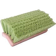 "Weiler 804-44699 10"" Polystyrene Bristle Bi-Level Scrub Brush; Flagged White"