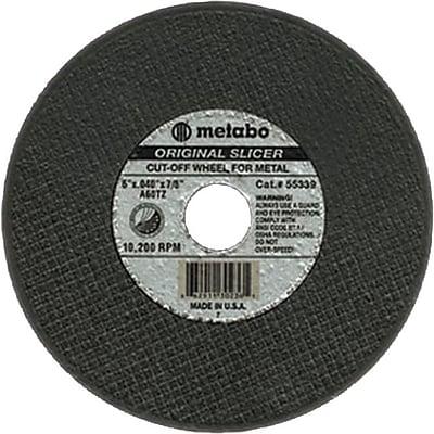 Metabo® 6 in (OD) x 0.04 in (T) 1 AO Cut-Off Wheel, 60 (Medium), 7/8 in Arbor