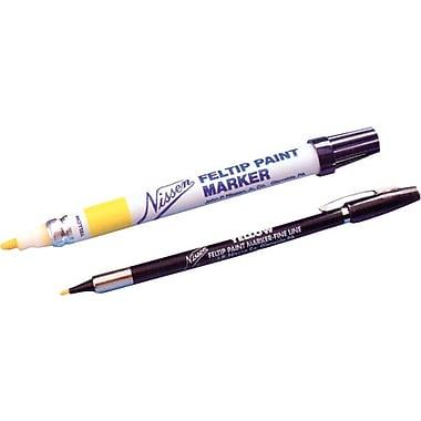 Nissen® 1/8 in Standard Fiber Tip Feltip Paint Marker, White
