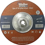 Weiler® Vortec Pro® Type 27 Grinding Wheels, 7 in, 8500 rpm