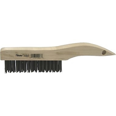 Weiler® Shoe Wood Handle SS Bristle Hand Scratch Brush, 1 3/16 in (L) Trim