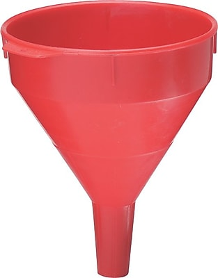 Plews® 1 1/2 in (OD) Tip 9 in (Diameter) Polyethylene Plastic Funnel, 11 in (H), 6 qt Capacity
