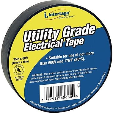 Intertape Polymer Group® Economy Grade Black Vinyl Electrical Tape, 60 Feet (L) x 3/4 in (W)