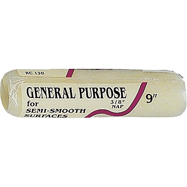Linzer 9 in Polyester Fabric General Purpose Paint Roller Cover, 3/8 in (L) Nap