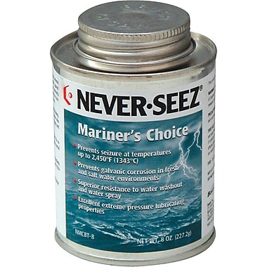 Never-Seez® Black Gray Mariners Choice Anti-Seize Lubricant, 8 oz Brush Top Can