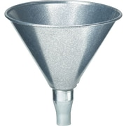 Plews® 3/4 in (OD) Tip 6 in (Diameter) Galvanized Steel Utility Funnel, 7 in (H), 1 qt Capacity