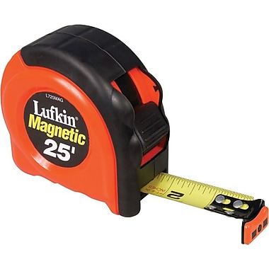 Lufkin® A5 Yellow Clad Steel Power Return Series 700 Measuring Tape, 25 ft (L) x 1 in (W) Blade