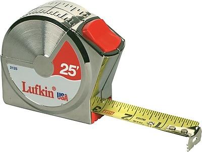 Lufkin® A1 Yellow Clad Steel Single Side Series 2000 Measuring Tape, 10 ft (L) x 1/2 in (W) Blade