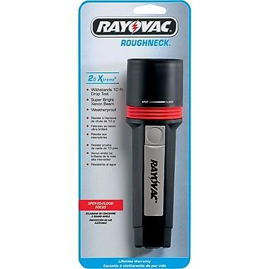 Roughneck Extreme® 2 D Alkaline Black Polypropylene Performance Flashlight, Xenon