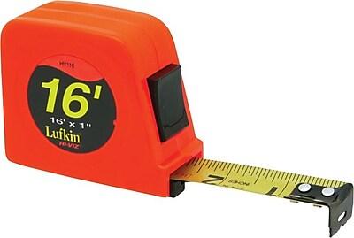 Lufkin® A5 Yellow Clad Steel Single Side Power Return Measuring Tape, 16 ft (L) x 1 in (W) Blade