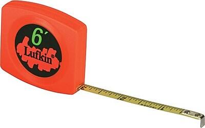 Lufkin® Pee Wee® A16 Yellow Clad Steel Single Side Measuring Tape, 6 ft (L) x 1/4 in (W) Blade