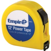 Empire® Acrylic Coated CS Single Side Measuring Tape, 25 ft (L) x 1 in (W) Blade, High Impact ABS