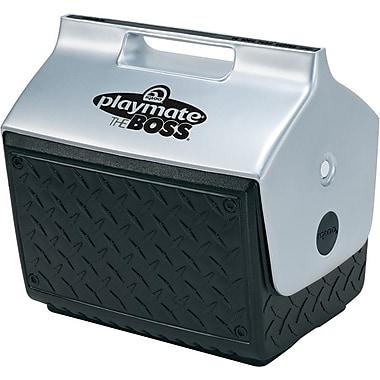 Playmate® BOSS™ 14 1/2 in (L) x 13 3/5 in (H) Black Plastic Personal Cooler, 14 qt