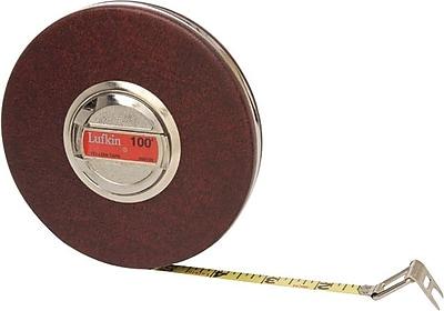 Lufkin® B1 Yellow Clad Steel Single Side Series 1000 Measuring Tape, 100 ft (L) x 3/8 in (W) Blade