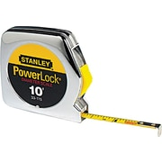 Powerlock® Polymer Coated Steel Single Side Measuring Tape, 10 ft (L) x 1/4 in (W) Blade