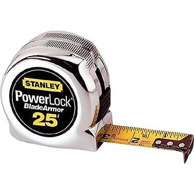 Powerlock® Mylar® Polyester BladeArmor™ Single Side Measuring Tape, 25 ft (L) x 1 in (W) Blade