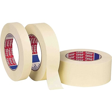 Tesa® 60 yd (L) X 5.5 mil (T) Paper Backing Rubber Adhesive Natural Masking Tape, 1 in (W)