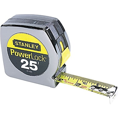 Powerlock® Mylar® Polyester Single Side Measuring Tape, 26 ft (L) x 1 in (W) Blade