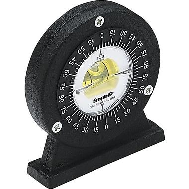 Empire® 0-360 deg Range Polycast® Small Angle Magnetic Protractor, 5 deg Graduations