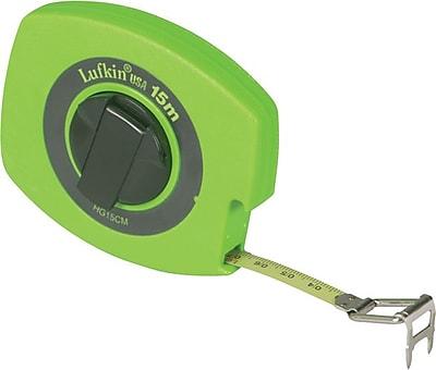 Lufkin® B8 Yellow Clad Steel Double Side Measuring Tape, 50 ft (L) x 3/8 in (W) Blade