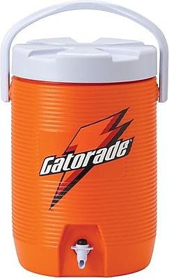 Gatorade® Orange Plastic Water Cooler with Dispenser Nozzle, 3 Gallon