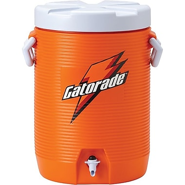 Gatorade® 19 in (L) x 15 in (W) x 13 in (H) Orange Beverage Cooler with Cup Dispenser, 5 gal